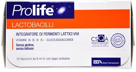 PROLIFE LACTOBACILLI 10 FLACONCINI 8 ML - Farmaciaempatica.it