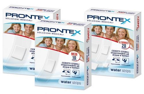 CEROTTO PRONTEX WATER STRIPS ASSORTITO 20 PEZZI - Farmia.it