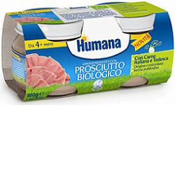 Humana Omogeneizzato Con Prosciutto Biologico 2x80g - Carafarmacia.it