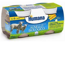 Humana Omogeneizzato Con Carne Di Agnello Biologico 2x80g - Carafarmacia.it