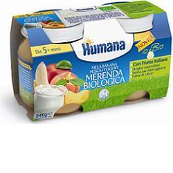 HUMANA MERENDA MELA/BANANA/YOGURT/PESCA BIO 240 G - Carafarmacia.it