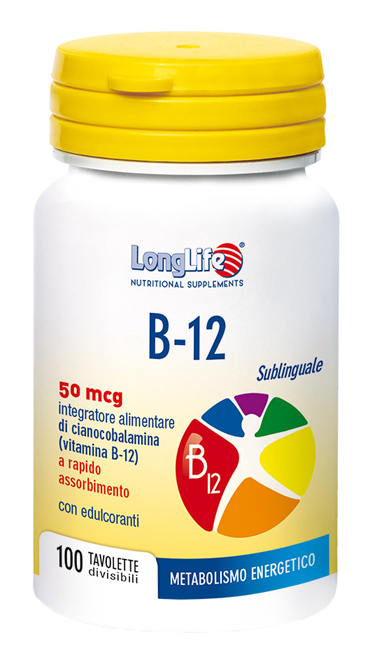 LONGLIFE B12 50MCG SUBLINGUALE 100 TAVOLETTE - Speedyfarma.it