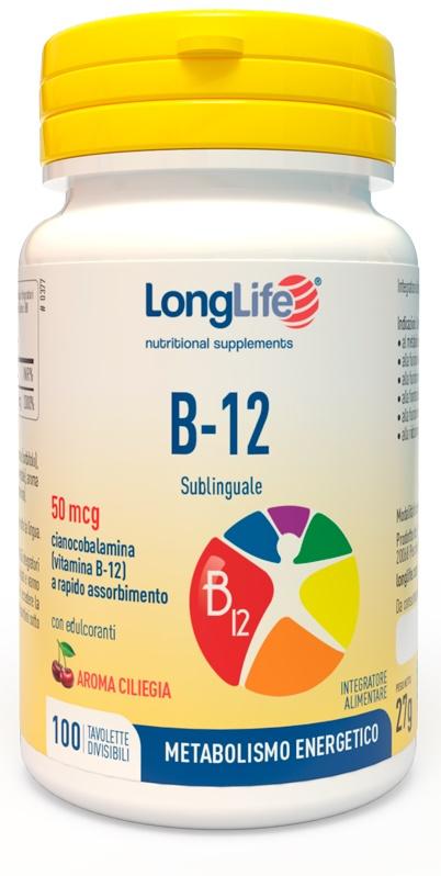 LONGLIFE B12 50MCG SUBLINGUALE 100 TAVOLETTE - Farmawing