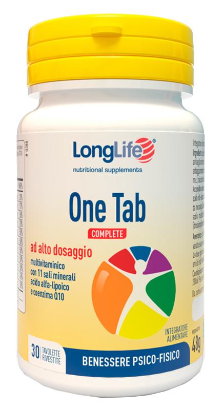 LONGLIFE ONE TAB COMPLETE 30 TAVOLETTE - latuafarmaciaonline.it