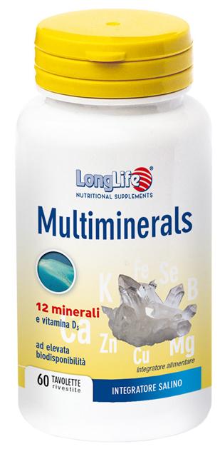 LongLife Multimineral Integratore Sali Minerali 60 Tavolette