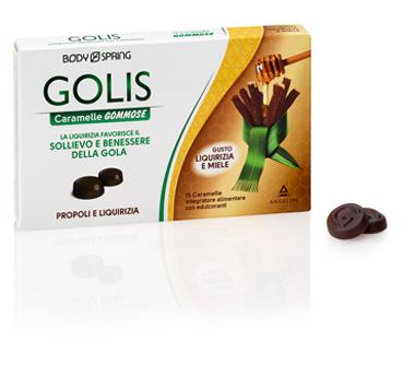 BODY SPRING GOLIS CARAMELLE GOMMOSE LIQUIRIZIA/MIELE 15 PEZZI - Farmafamily.it