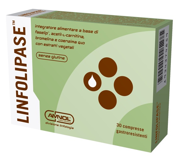 AMNOL CHIMICA BIOLOGICA LINFOLIPASE INTEGRATORE ALIMENTARE  30 COMPRESSE - Farmastar.it