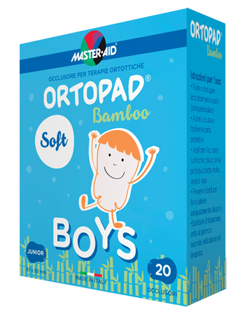CEROTTO OCULARE PER ORTOTTICA ORTOPAD SOFT BOYS JUNIOR 20 PEZZI - Carafarmacia.it