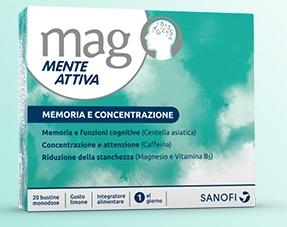 MAG MENTE ATTIVA 20 BUSTINE OROSOLUBILI - La farmacia digitale