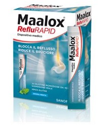 SOSPENSIONE ORALE MAALOX REFLURAPID 20 BUSTINE MONODOSE DA 10 ML - Farmacia 33