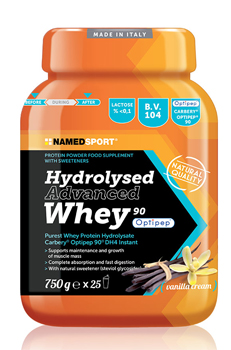 HYDROLYSED ADVANCED WHEY VANILLA CREAM BARATTOLO POLVERE ORALE 750 G - Farmapage.it