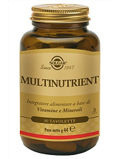 SOLGAR MULTINUTRIENT INTEGRATORE VITAMINICO 30 TAVOLETTE - Nowfarma.it
