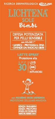 LICHTENA SOLE BIMBI LATTE SPRAY SPF 30 200 ML - Parafarmacia Tranchina