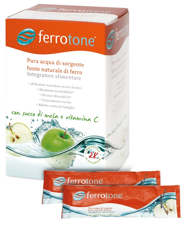 FERROTONE APPLE 28 SACCHETTI 25 ML - Farmaunclick.it