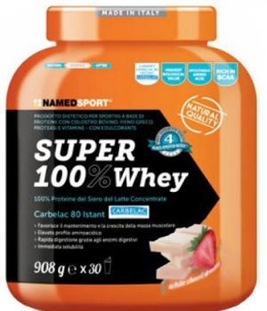 SUPER 100% WHEY WHITE CHOCO AND STRAWBERRY 2 KG