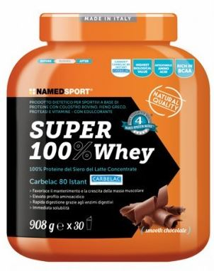 Named SUPER100% WHEY SMOOTH CHOCOLATE 908 G - DrStebe