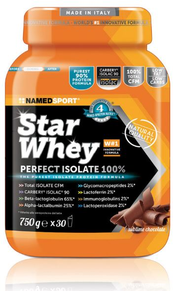 STAR WHEY SUBLIME CHOCOLATE 750 G - Farmaciacarpediem.it