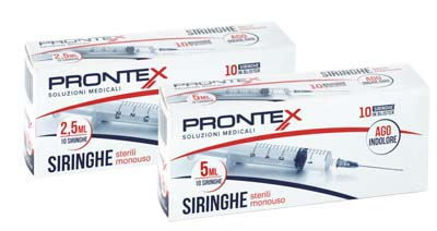 SIRINGA PRONTEX 2,5 ML AGO IND 10 PEZZI - Farmaciaempatica.it