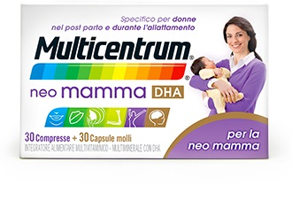 MULTICENTRUM NEO MAMMA DHA 30 COMPRESSE + 30 CAPSULE MOLLI - Farmabellezza.it