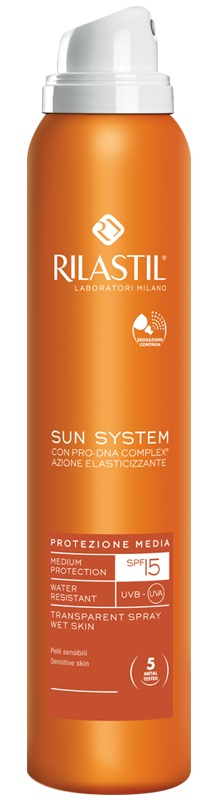RILASTIL SUN SYSTEM PHOTO PROTECTION THERAPY SPF15 TRANSPARENT SPRAY 200 ML - Farmabenni.it