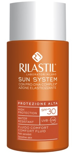 RILASTIL SUN SYSTEM PHOTO PROTECTION THERAPY SPF30 COMFORT FLUIDO 50 ML - Farmabros.it