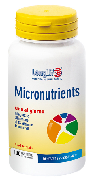LONGLIFE MICRONUTRIENTS 100 TAVOLETTE - farmaciadeglispeziali.it