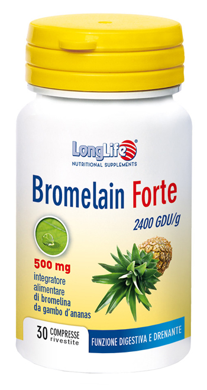 Longlife Bromelain Forte Integratore Alimentare 30 Tavolette  - Speedyfarma.it