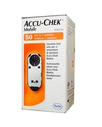 STRISCE MISURAZIONE GLICEMIA ACCU-CHEK MOBILE 50 TEST MIC 2 - Farmastar.it