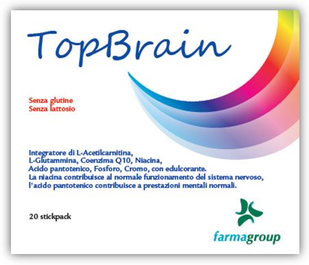 TOPBRAIN 20 STICK 4,5 G - Farmabros.it