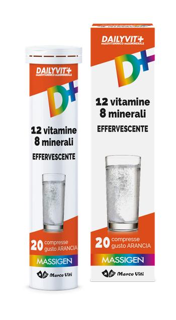 DAILYVIT+ 12 VITAMINE 8 MINERALI EFFERVESCENTE 20 COMPRESSE - Farmaunclick.it