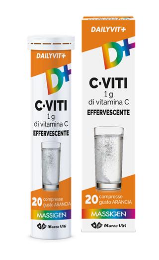 DAILYVIT+ C VITI 1G DI VITAMINA C EFFERVESCENTE 20 COMPRESSE - farmasorriso.com
