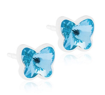Image of BLOMDAHL GIOIELLO MP BUTTERFLY 5MM AQUAMARINE