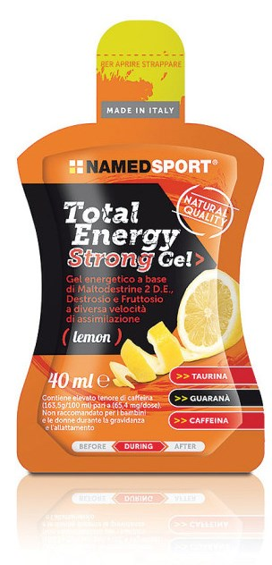 NAMED SPORT TOTAL ENERGY STRONG LEMON GEL 40 ML - Farmastar.it