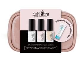 EUPHIDRA FRENCH MANICURE PERLATO POCHETTE 3 MINI SMALTI + 1 CREMA MANI 25 ML - Iltuobenessereonline.it