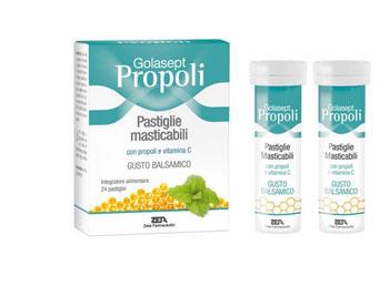 GOLASEPT PROPOLI 24 COMPRESSE MASTICABILI BALSAMICHE - Farmafamily.it