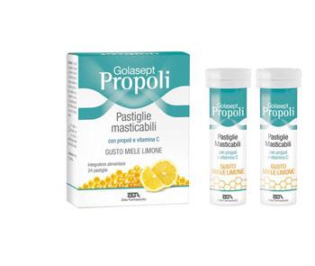 GOLASEPT PROPOLI 24 COMPRESSE MASTICABILI MIELE LIMONE - Iltuobenessereonline.it