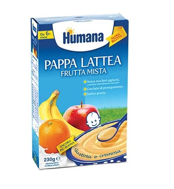 HUMANA PAPPA FRUTTA MISTA 230 G - Farmacia Bartoli