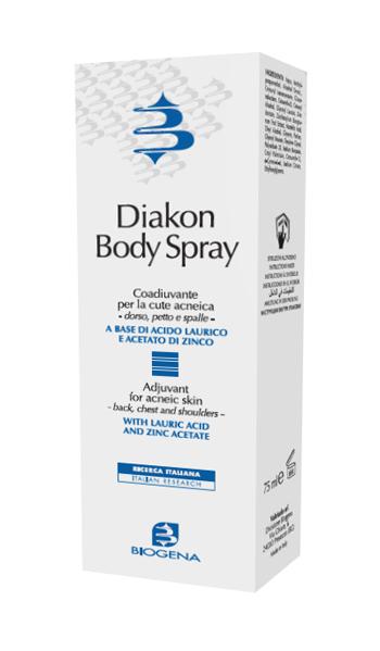 DIAKON BODY SPRAY COADIUVANTE CUTE ACNEICA DORSO PETTO E SPALLE 75 ML - Nowfarma.it