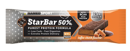 STARBAR 50% PROTEIN TOFFEE CHOCK FLAVOUR 50 G - Farmaci.me
