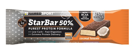 STARBAR 50% PROTEIN COCONUT HEAVEN 50 G - Farmabenni.it