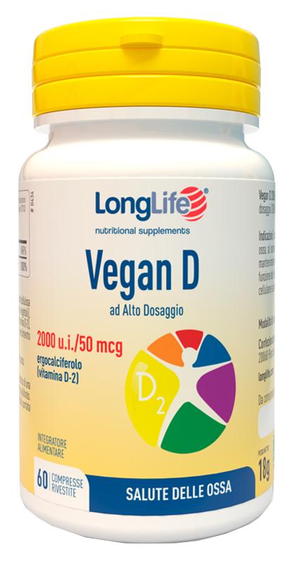 Longlife Vegan D 60 Compresse - Arcafarma.it