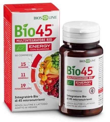 BIOSLINE BIO 45 ENERGY 50 COMPRESSE CERT QCERT - farmaventura.it
