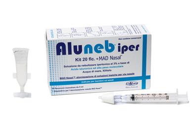 ALUNEB KIT SOLUZIONE IPERTONICA 3% 20 FLACONCINI + MAD NASAL ATOMIZZATORE - Farmaci.me