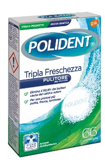 POLIDENT TRIPLA FRESCHEZZA 66 COMPRESSE - Speedyfarma.it