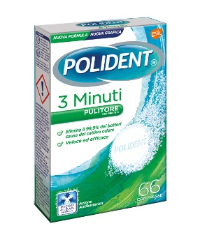 POLIDENT 3 MINUTI 66 COMPRESSE - Farmia.it