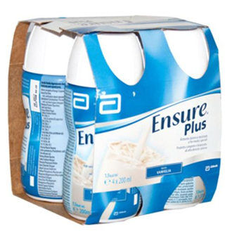 ENSURE PLUS VANIGLIA 4 BOTTIGLIE DA 200 ML - Farmastop