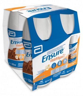 ENSURE NUTRIVIGOR CIOCCOLATO 4 BOTTIGLIE DA 220 ML - La farmacia digitale