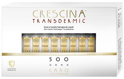 CRESCINA TRANSDERMIC RI-CRESCITA 500 UOMO 20 FIALE DA 3,5 ML - Farmafamily.it