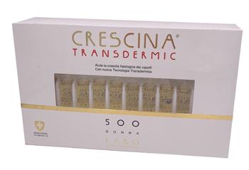 CRESCINA TRANSDERMIC RI-CRESCITA 500 DONNA 40 FIALE DA 3,5 ML - Farmafamily.it