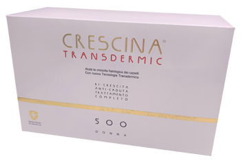 TRATTAMENTO COMPLETO CRESCINA TRANSDERMIC RI-CRESCITA 500 DONNA 20+20 FIALE DA 3,5 ML - Farmafamily.it